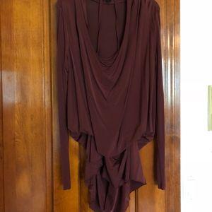 All Saints Maroon Shirt & Dress